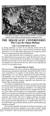 The Holocaust Controversy